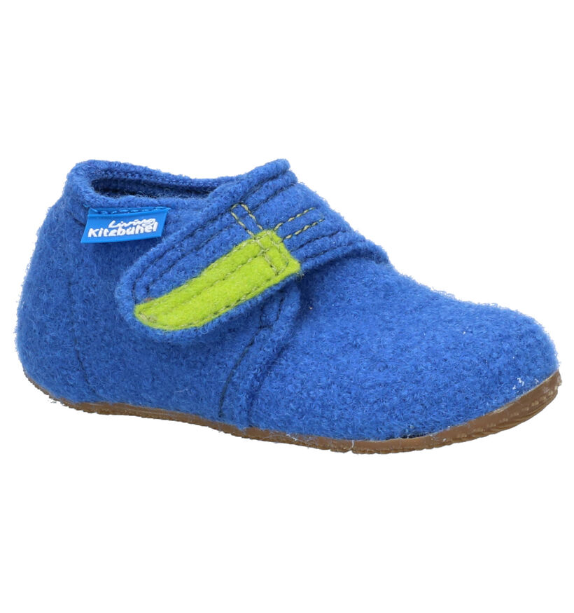 Living Kitzbühel Pantoufles fermées en Bleu en laine (258704)