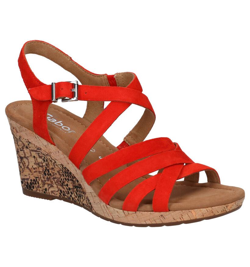 Gabor Rode Sandalen in nubuck (271752)