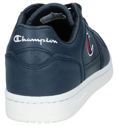 Donkerblauwe Sneakers Champion Chicago Basket Low in kunstleer (243771)