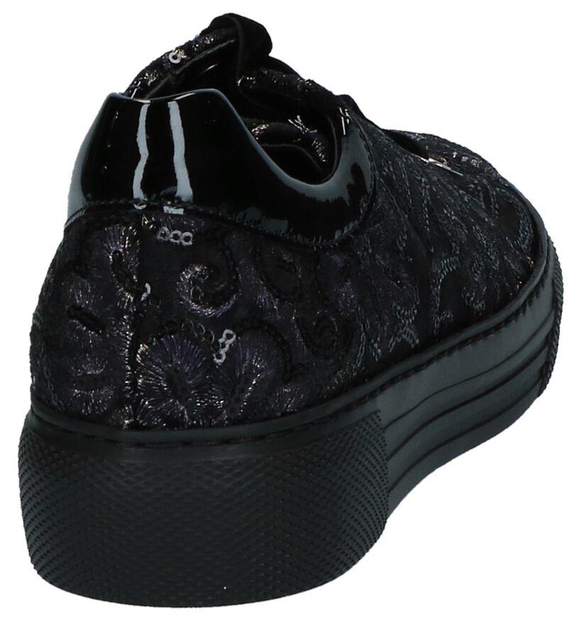 Gabor Donkerblauwe Sneakers met Broderie in lakleer (231341)