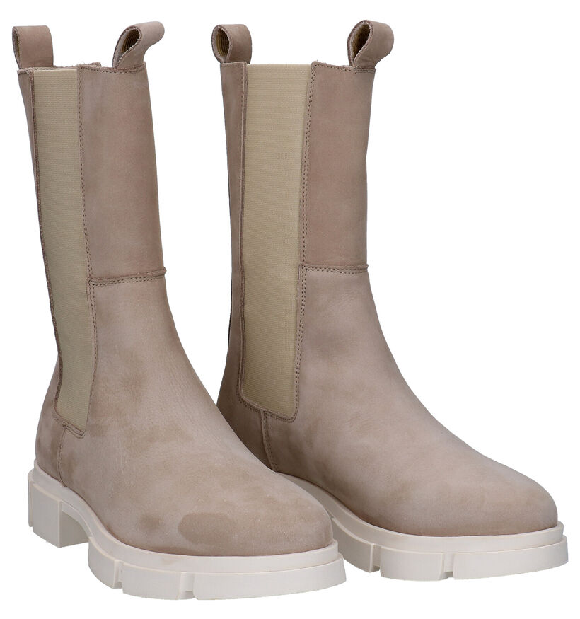 Tango Romy Taupe Chelsea Boots in stof (291404)