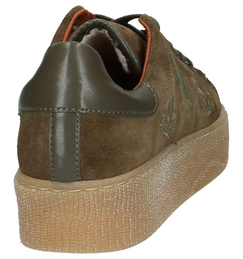 Tango Baskets basses en Vert kaki en daim (209498)