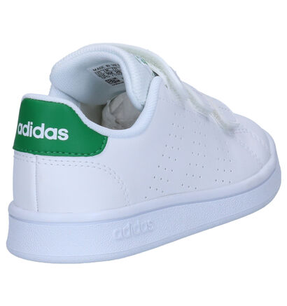 adidas Advantage Zwarte Sneakers in kunstleer (252541)