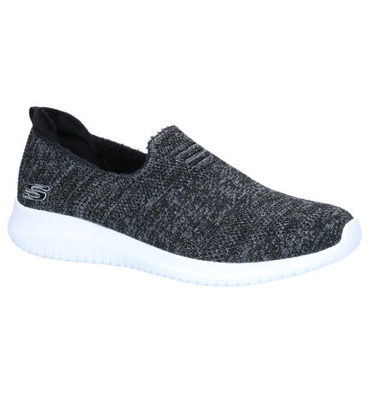 Skechers Zwarte Slip-on Sneakers in stof (264481)
