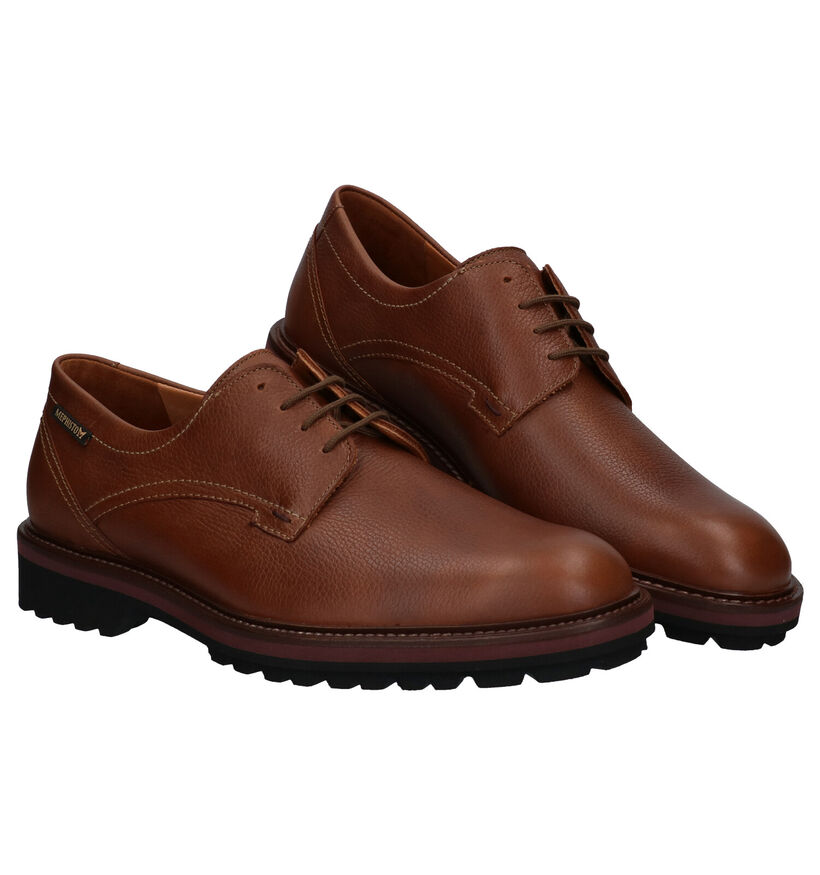 Mephisto Batiste Chaussures à lacets en Cognac en cuir (281007)