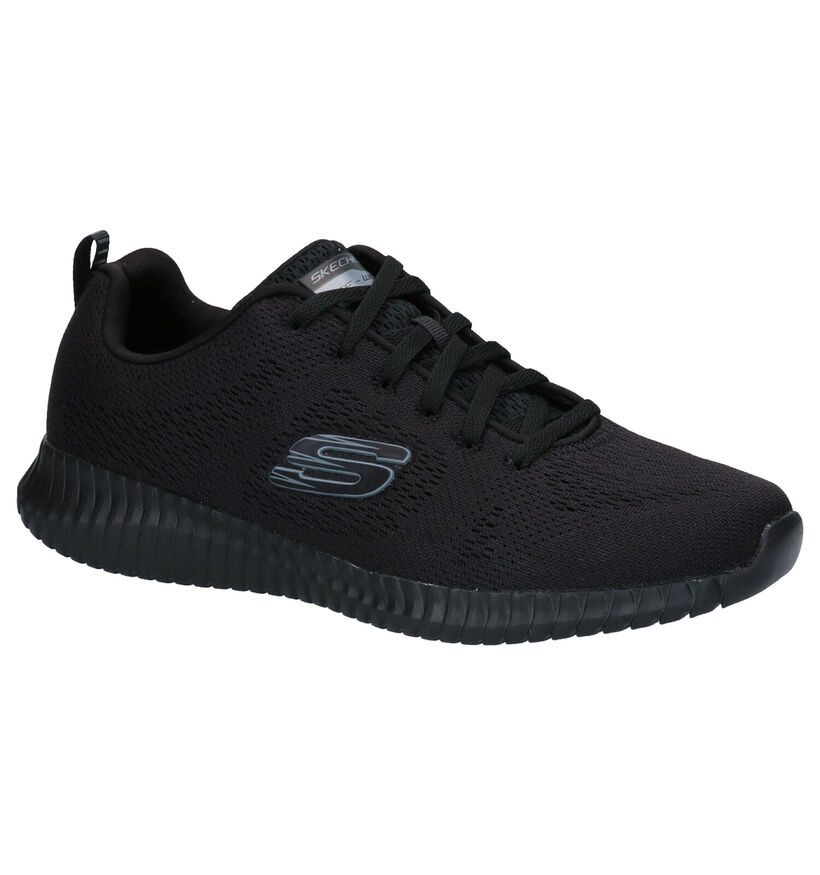Skechers Elite Flex Clear Leaf Baskets en Noir en textile (277907)