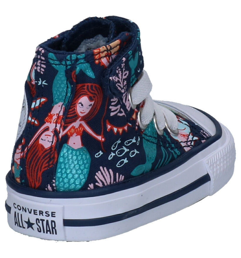 Converse Chuck Taylor AS HI 1V Blauwe Sneakers in stof (266017)