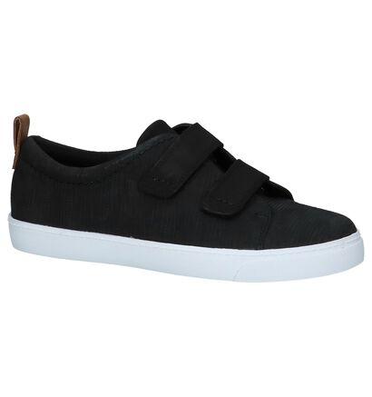 Lage Geklede Sneakers Zwart Clarks Glove Daisy in leer (221336)