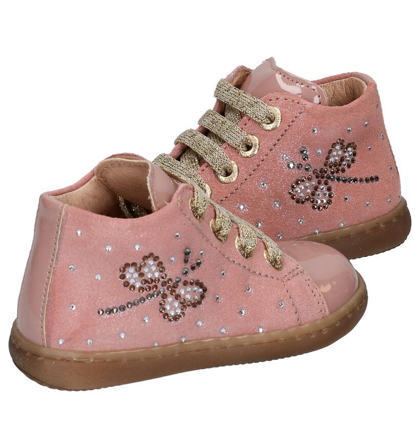 Lunella Chaussures pour Bébé en Rose en cuir (277762)