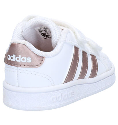 adidas Grand Court Babysneakers Wit in imitatieleer (252506)