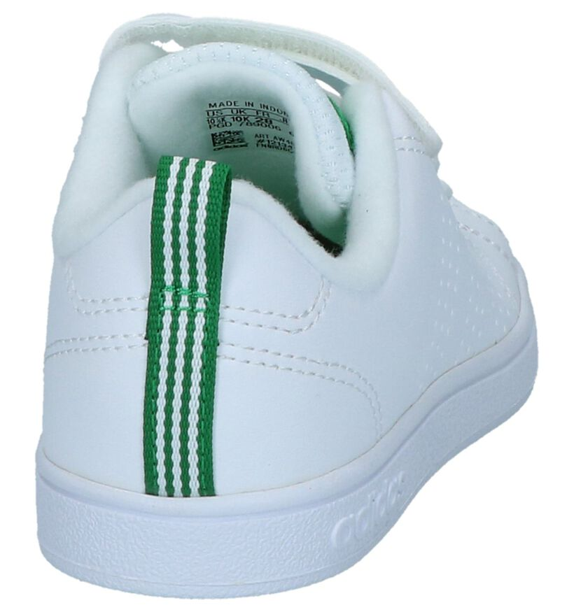 adidas Advantage Clean Baskets basses en Blanc en simili cuir (237171)