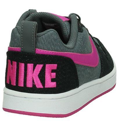 Grijs/Roze Sneaker Nike Court Borough in stof (198247)