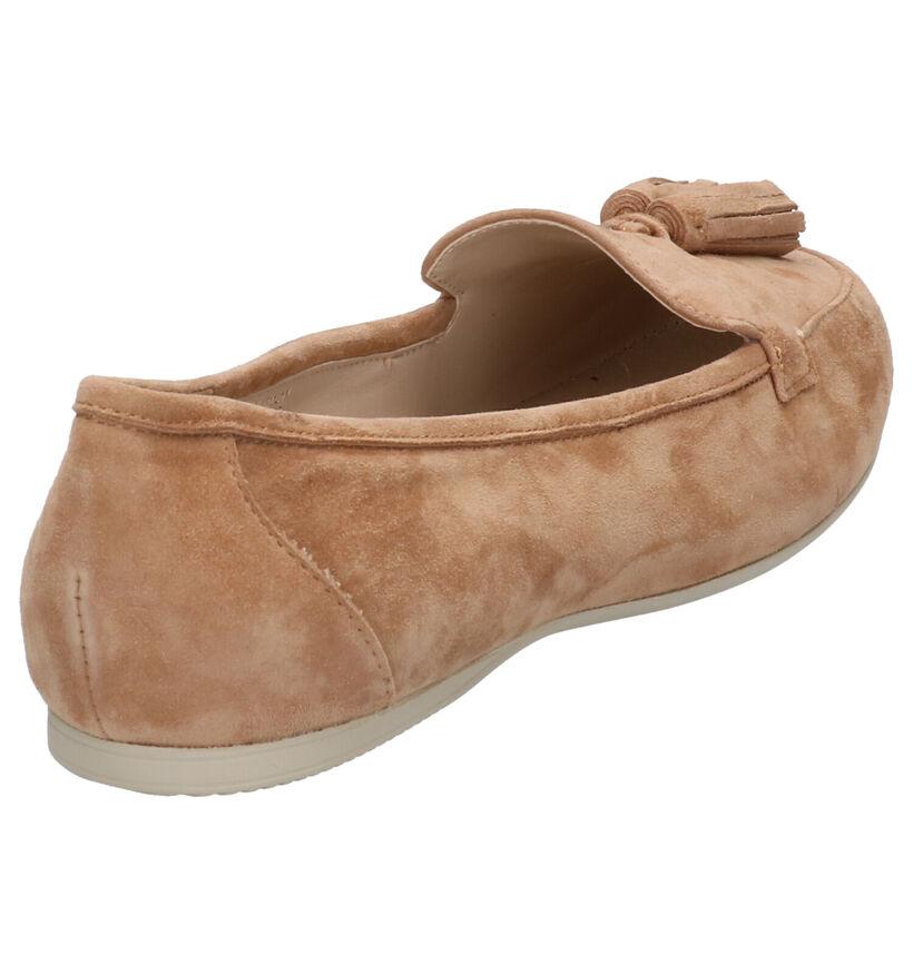 Crinkles Oranje Loafers in daim (272874)