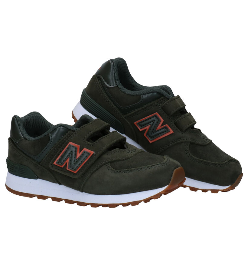 New Balance YV574 Baskets en Bleu en daim (276847)