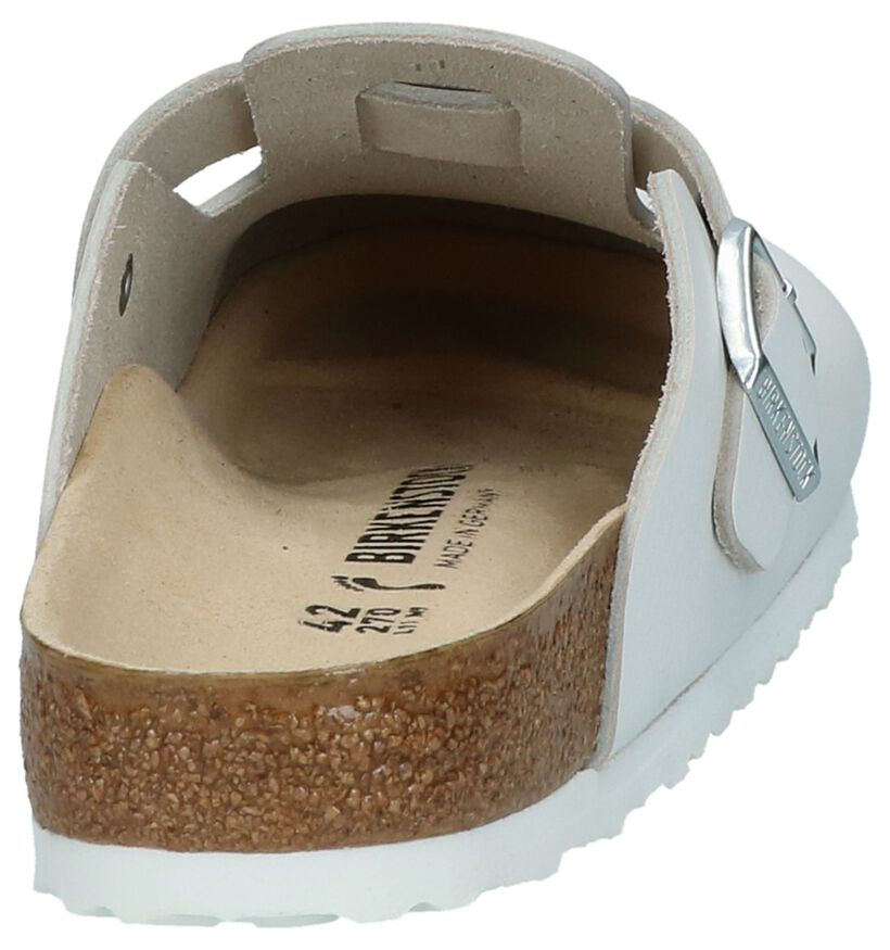Slippers Wit Birkenstock Boston in leer (231577)