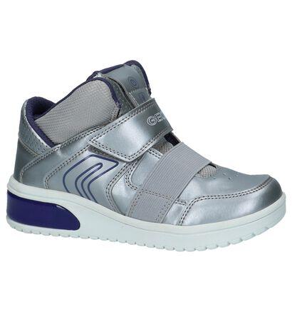 Geox Zilveren Sneakers met Lichtjes in kunstleer (232713)