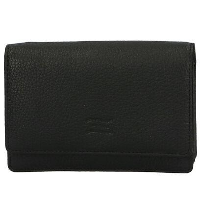 Crinkles Porte-monnaies à rabat en Noir en cuir (263703)