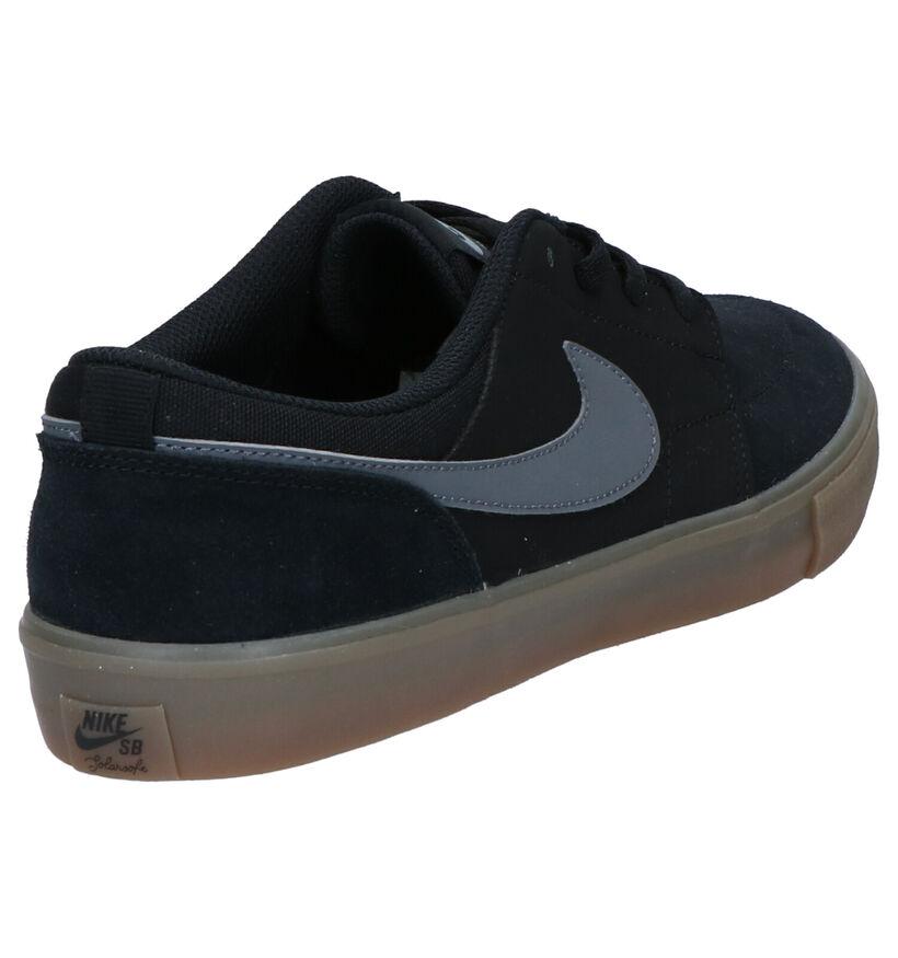 Nike SB Portmore II Solar Zwarte Skate Sneakers in stof (266543)
