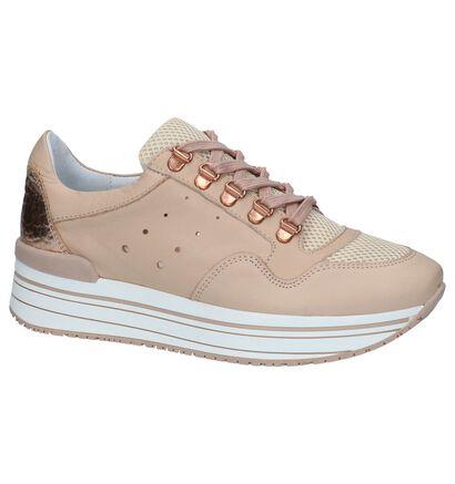 Tango Marike Roze Sneakers in leer (233582)