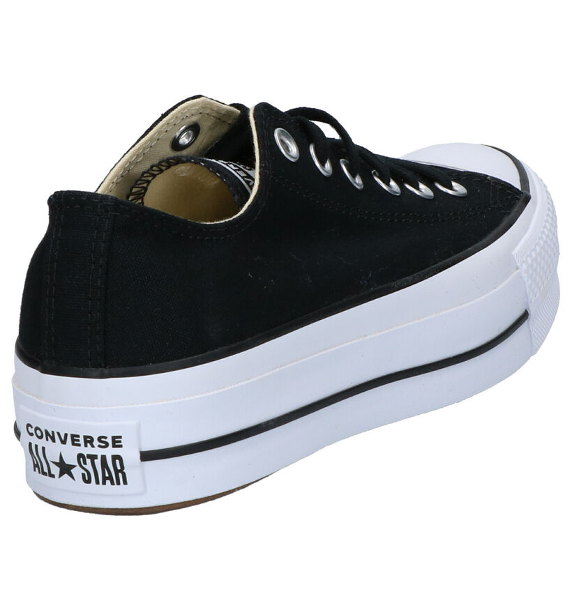Converse Chuck Taylor All Star Lift Baskets en Noir en textile (266476)