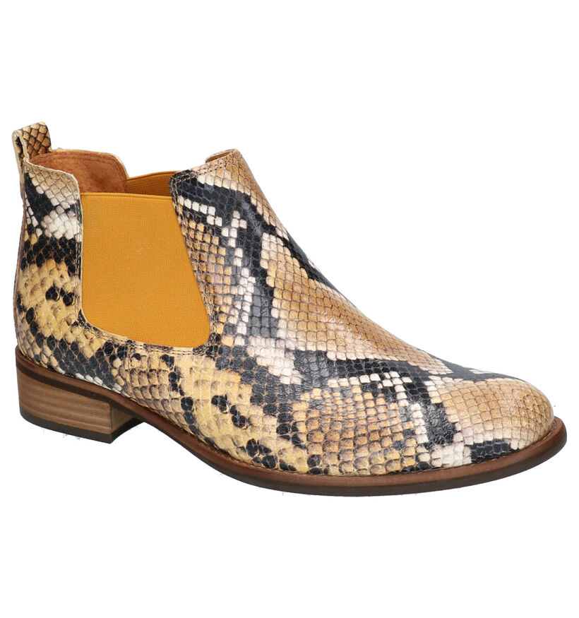 Gabor Cognac Chelsea Boots in leer (260129)