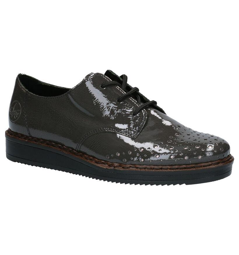 Rieker Chaussures à lacets en Gris foncé en simili cuir (262103)