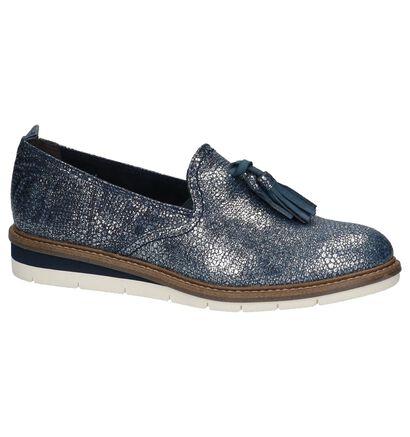 Tamaris Loafers en Bleu foncé en cuir (214196)