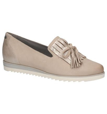 Taupe Loafers Be Natural met Kiltie, Taupe, pdp