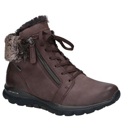 Gabor Donkerbruine Boots in nubuck (260515)