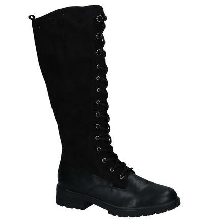 Tamaris Bottes hautes en Noir en velours (226788)