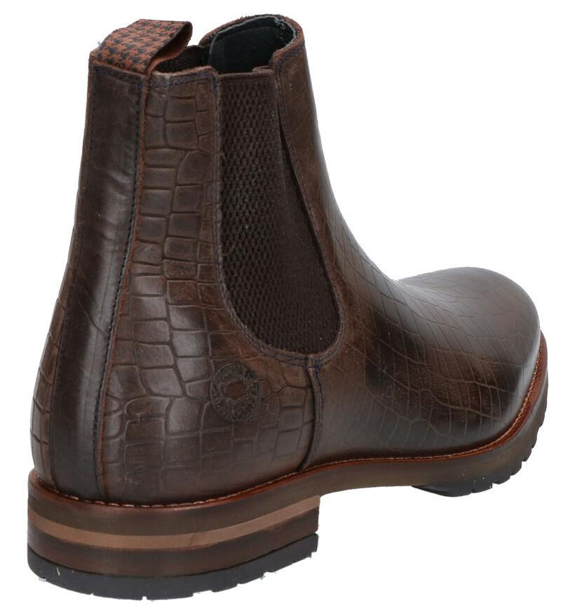 Bruine Chelsea Boots Bullboxer in leer (260598)