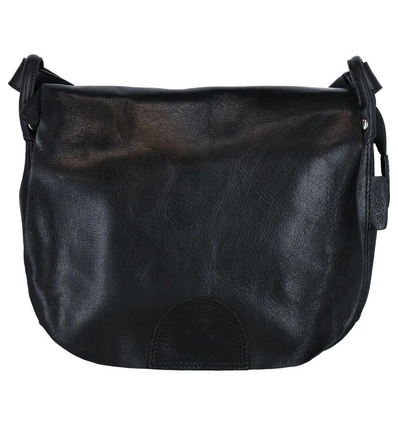 Saccoo Salpo Sac porté croisé en Noir en cuir (283611)