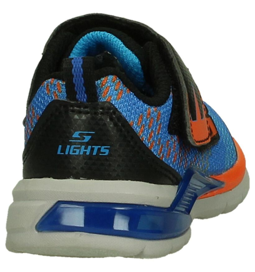 Skechers Baskets basses en Bleu en textile (202336)