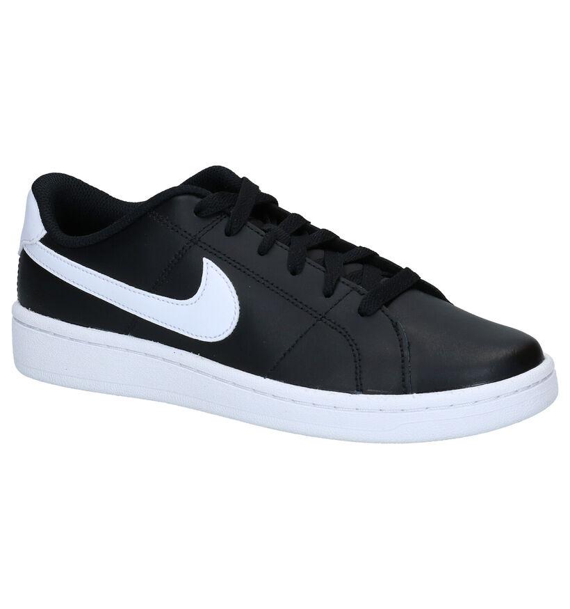 Nike Court Royale Baskets en Noir en cuir (290967)