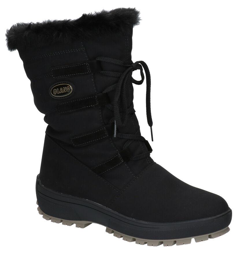 Olang Nora Zwarte Snowboots in stof (262753)