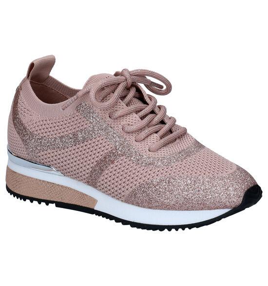 La Strrada Chaussures à Lacets en Rose