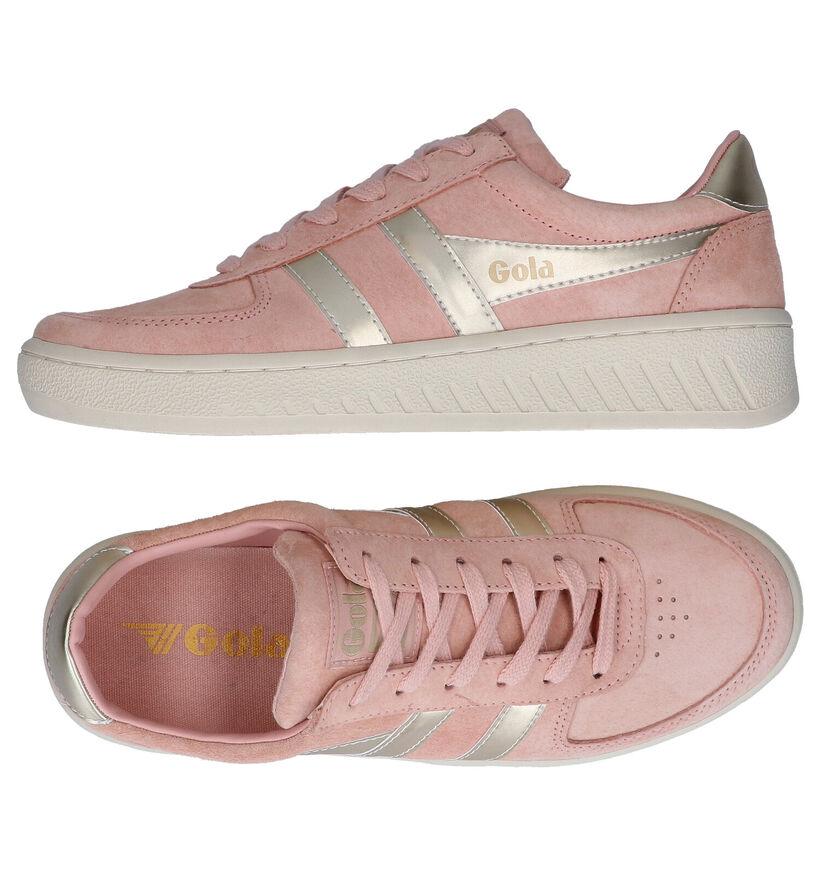 Gola Grandslam Pearl Roze Sneakers in nubuck (289183)