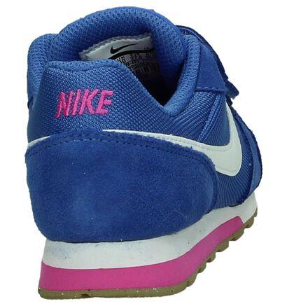 Nike MD Runner Blauwe Sneakers in stof (198110)