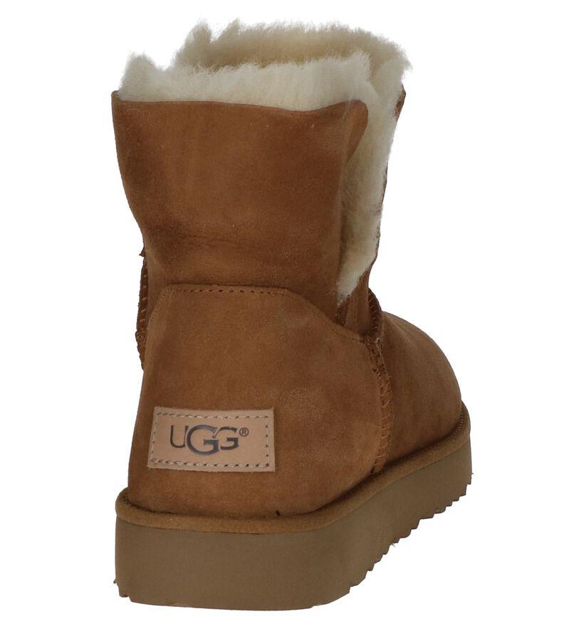 UGG Classic Cuff Mini Boots Cognac in daim (223462)