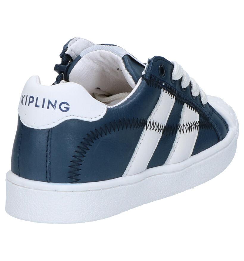 Kipling Furio Blauwe Veterschoenen in leer (273226)