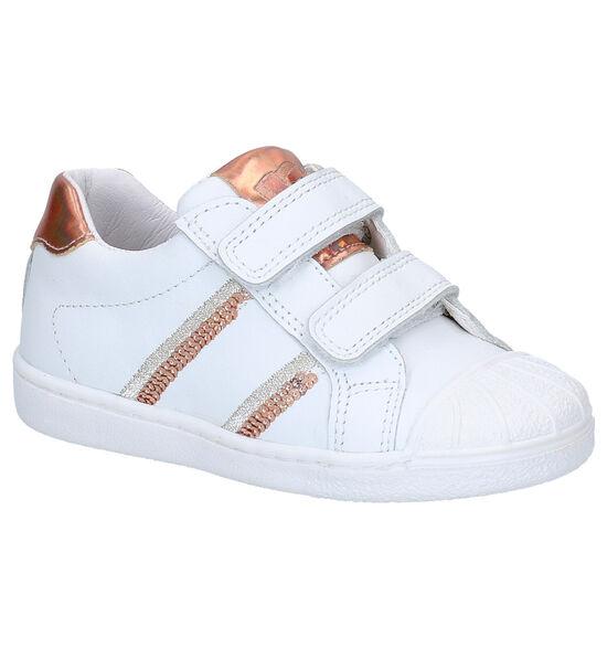 Little David Play Chaussures à velcro en Blanc