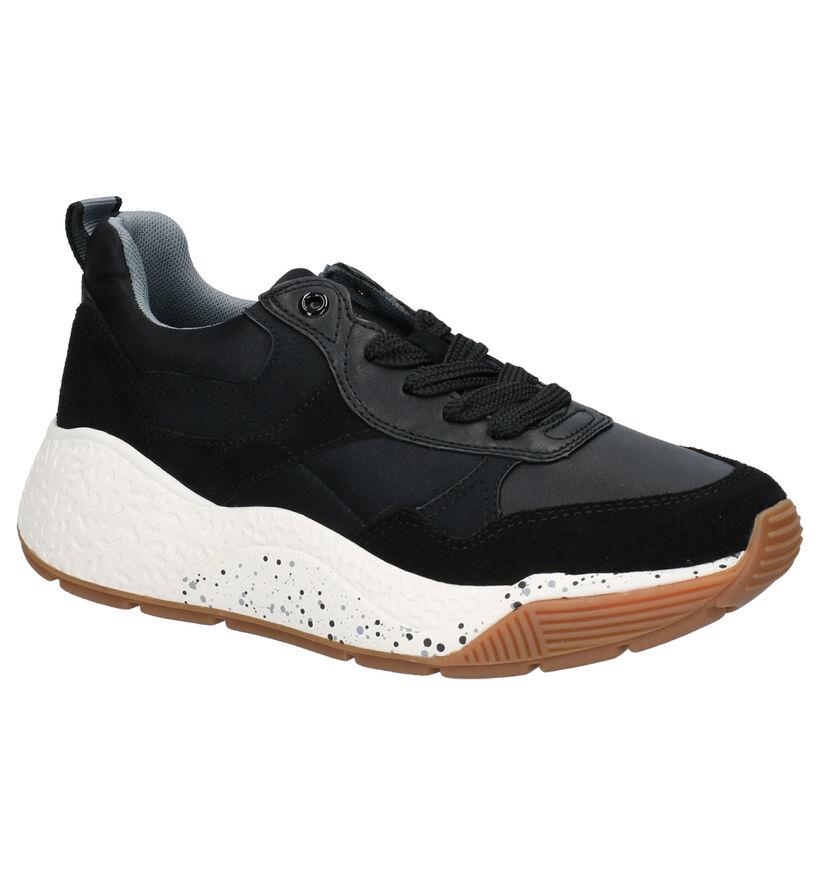 Esprit Sascha Lu Zwarte Sneakers in kunstleer (252934)