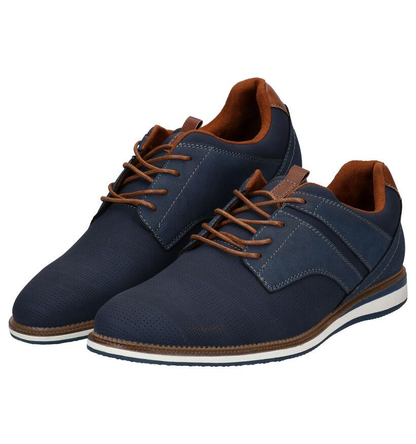 Sprox Chaussures basses en Bleu foncé en simili cuir (288445)