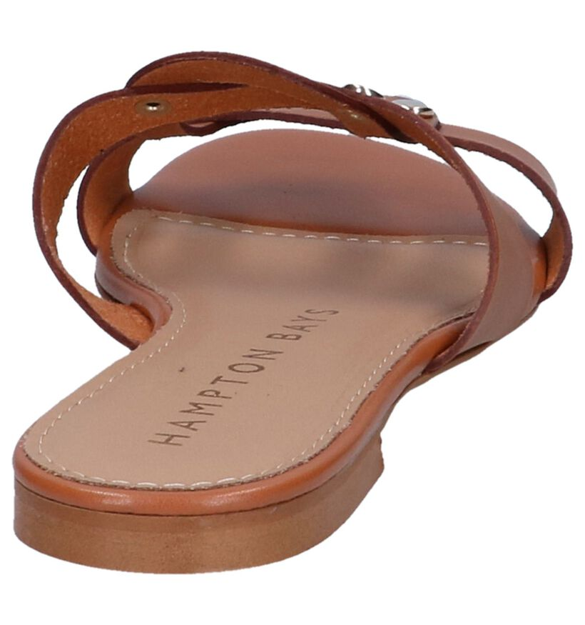 Cognac Slippers Hampton Bays in leer (239126)