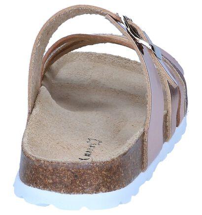 Metallic Roze Slippers Milo & Mila in kunstleer (245121)