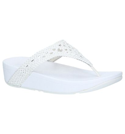 Zwarte Slippers FitFlop Lottie Wicker Toe Post, Wit, pdp
