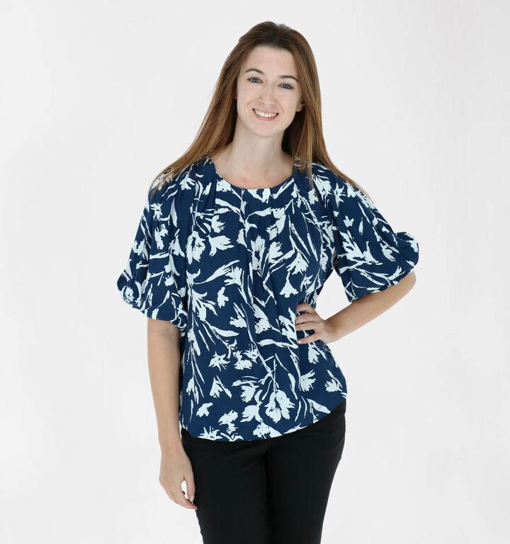Vila Rumina Blauwe T-shirt