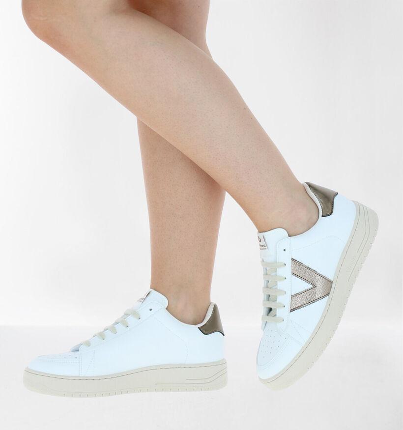Victoria Chaussures à lacets en Blanc en simili cuir (281931)