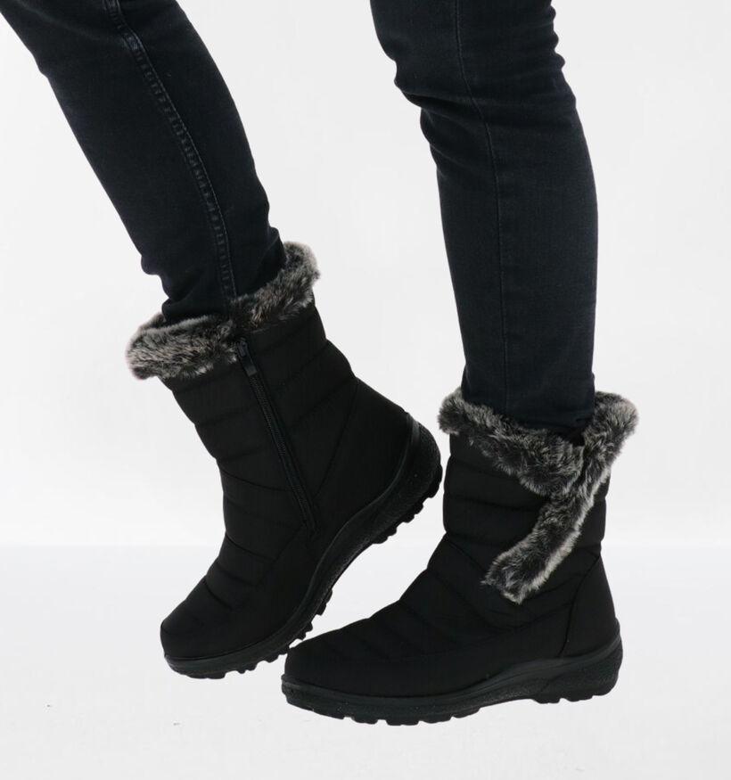 Soft Comfort Bottes de neige en Noir en textile (292873)