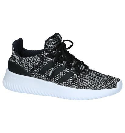 Roze Lage Sportieve Sneakers adidas Cloudfoam Ultimate, Zwart, pdp